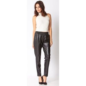 NWOT Forever 21 Pleather Faux Leather Joggers S